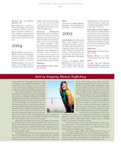 Rachel Carey featured in Westmont Magazine