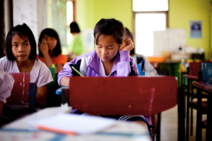 Help provide desks and running water for our students