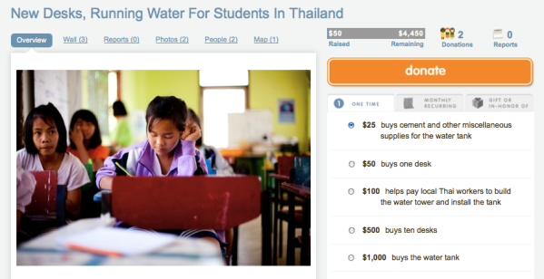 New Desks, Running Water for Students in Thailand