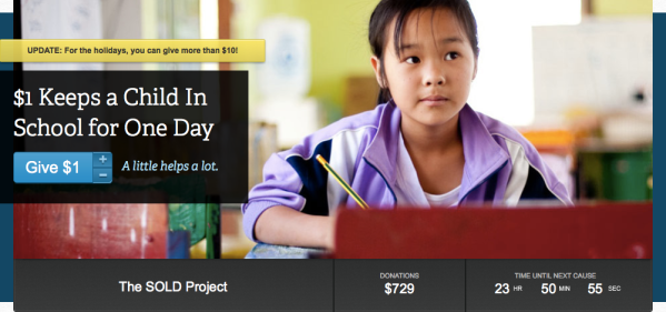 The SOLD Project on Philanthroper.com