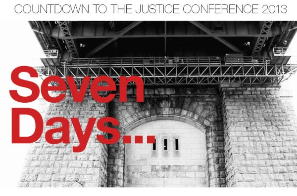 2013 Justice Conference countdown